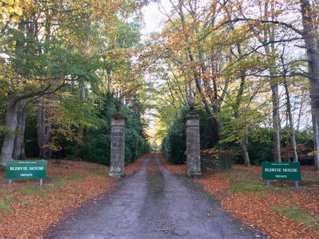 Blervie House Estate Entrance