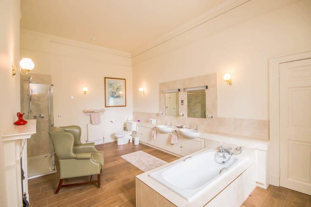 Luxury Ensuite Bathroom at Blervie House