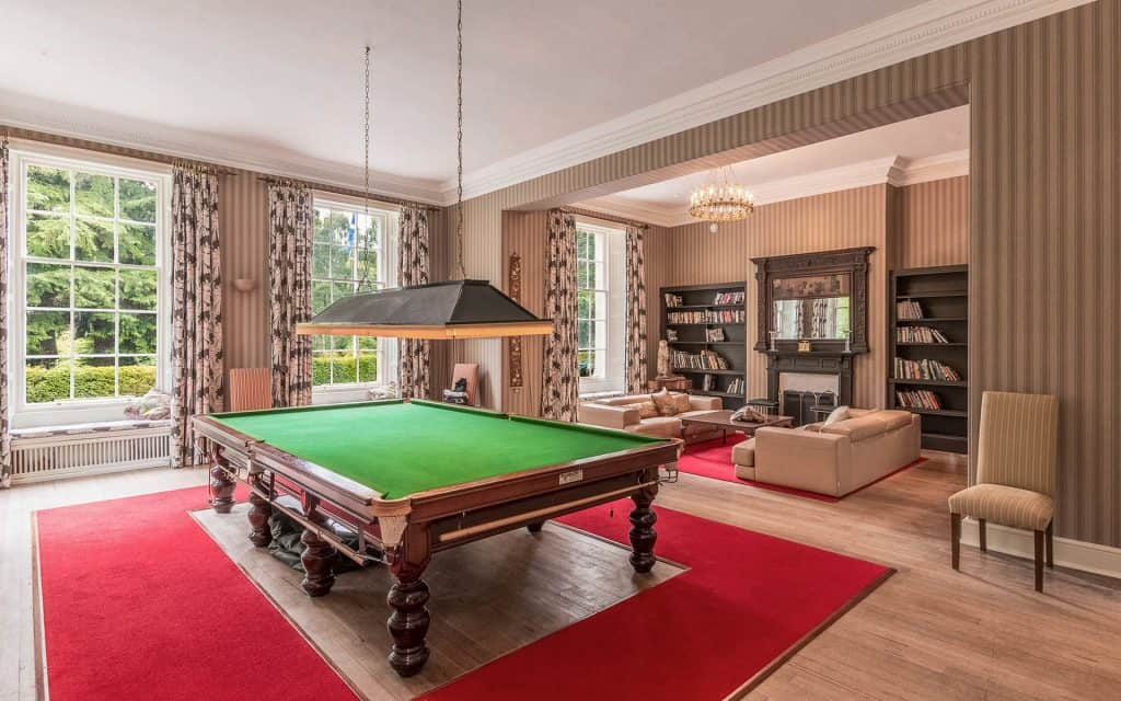 Billiard Room at Blervie House