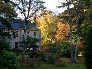 Blervie House with autumnal colours