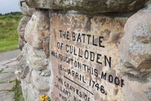 Culloden Battlefield Marker