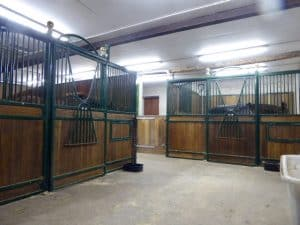 This view shows 2 stables at Blervie House.