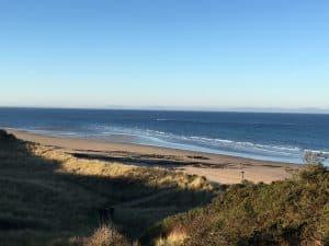 Sandy beach on the Moray Firth Coastline
