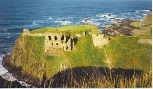 Shows Findlater Castle on the Moray Coast