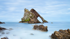 Bow Fiddle Rock in Moray