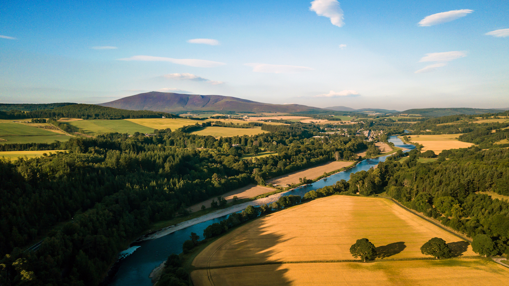 Landscapes over the River Spey