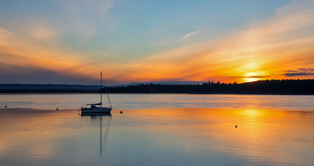 Sunset over Findhorn Bay