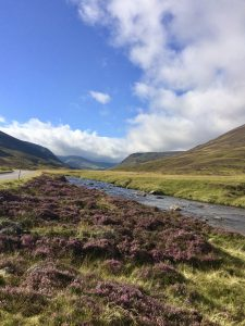 Shows the military roads in the Cairngorms National Park