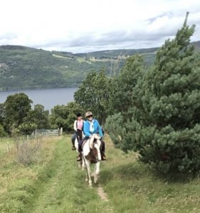 Horse riding above Loch Ness