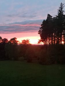 Sunset View from Blervie House