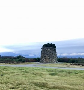 The Memorial Stone at Culloden Battlefield in the Highlands
